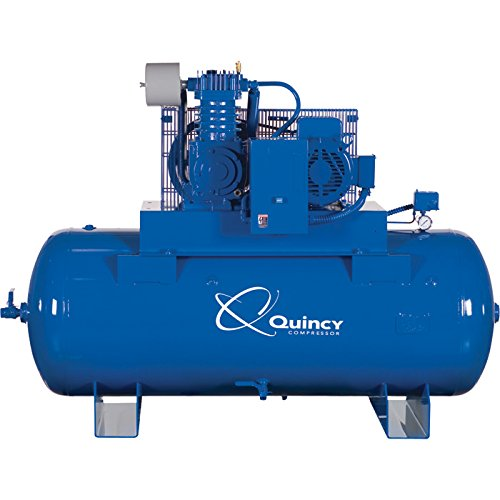 Quincy QT-10 Splash Lubricated Reciprocating Air Compressor - 10 HP, 230 Volt, 3 Phase, 120 Gallon Horizontal, Model Number P2103DS12HCB23