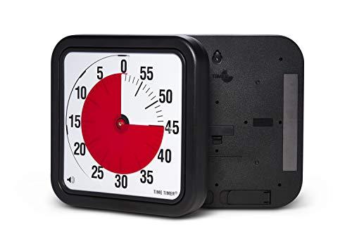 Time Timer magnetischer 60 Minuten Timer mit optischem Signal, Countdown-Uhr für Kinder und Erwachsene, für das Klassenzimmer oder Besprechungsräume (Large - 30 cm)