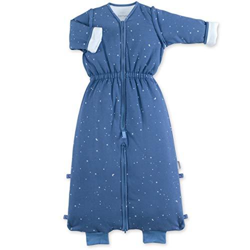 Saco de dormir Magic Bag de 18 a 36 meses con piernas separables PADY Jersey Tog 3,0 – Cremallera – Caliente – Manga larga – 18-36 m – Diseño de estrella – Azul vaquero