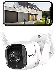 TP-Link - Draadloze bewakingscamera, binnen en buiten, wifi-IP-camera, 1080p, bidirectionele audio, nachtzicht, bewegingsdetectie, compatibel met Alexa of Google Assistant (TAPO C310).