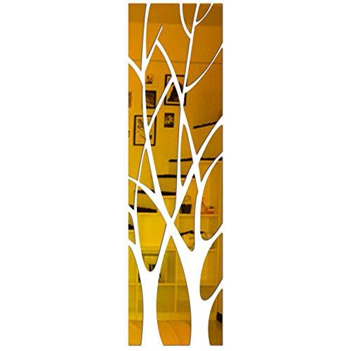 Whinop 21 Piezas de Espejos Pequeños de Pared de Árbol Grande de Papel Adhesivo Espejo de