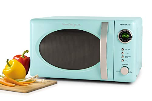 Nostalgia RMO7AQ Retro 0.7 cu ft 700-Watt Countertop Microwave Oven