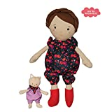Manhattan Toy Playdate Friends Freddie Machine Washable and Dryer Safe 14 Inch Doll with Companion Stuffed Animal