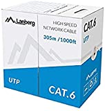 lanberg LCU6-10CC-0305-S Solid - Cable de red (cat. 6, 305 m), color gris