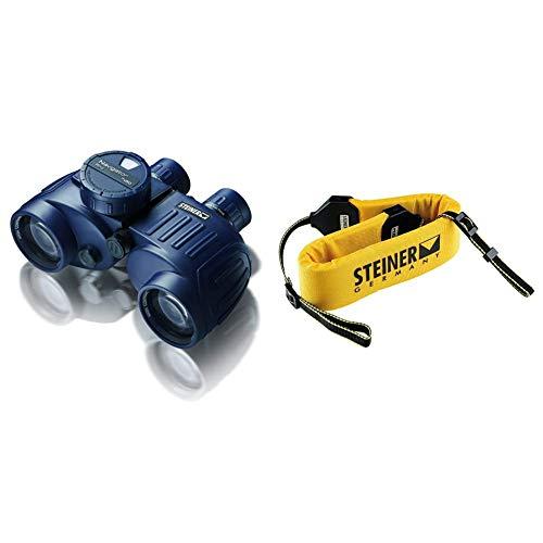 Steiner Navigator Pro 7x50 Marine-Fernglas mit Kompass - HD-stabilisierter Kompass, robust, hohe Detailschärfe, 5m wasserdicht & Fernglas Schwimmgurt robust