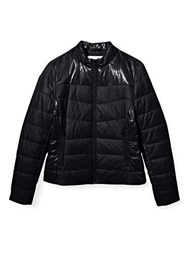 Calvin Klein Jeans Damen Padded Moto Jacket Jacke, Ck Black, M
