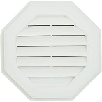 Suntown 22 Octagon Functional Gable Vent with Screen Nutmeg Brown 2 Piece Construction