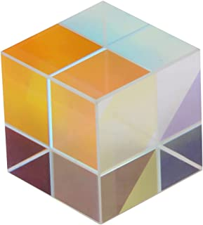 Prism, Better Refraction And Clear Reflection Decoration Beautiful Appearance Cubic Six Sides Cube Prism, for Teaching Res...