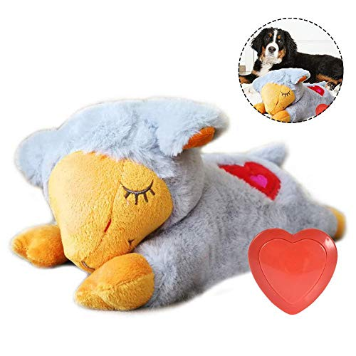 Kuscheltier Als Verhaltenstraining Mit Herzschlägen, Welpentraining Verhaltenshilfe Komfortspielzeug Herzschlag Plüschtier Für Haustiere, Welpe Verhaltenstraining Spielzeug Plüschtier Angst Linderung