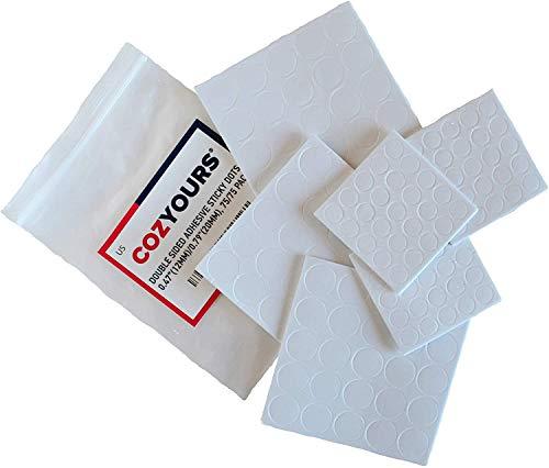 Cozyours, almohadilla de espuma blanca de doble cara, fuerte adhesivo, redondo, 150 unidades, pegatinas de mecha de vela para hacer velas y proyectos de manualidades