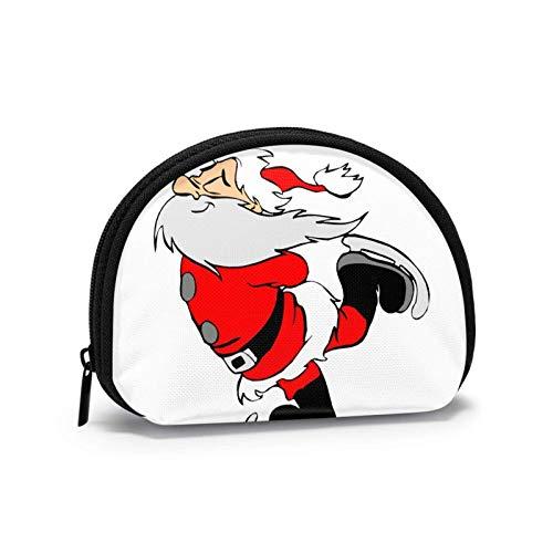 Münzgeldbörse Weihnachten Cool Skaterboard Kleine Münztasche Leinwand Geldbörse Tragbare Shell Aufbewahrungstasche