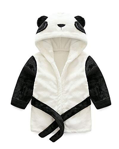 Kinder Panda geformt Bademantel Mit Kapuze Animal Print Soft Flanell Nachtwäsche Jungen Mädchen Robe Panda Height 130cm