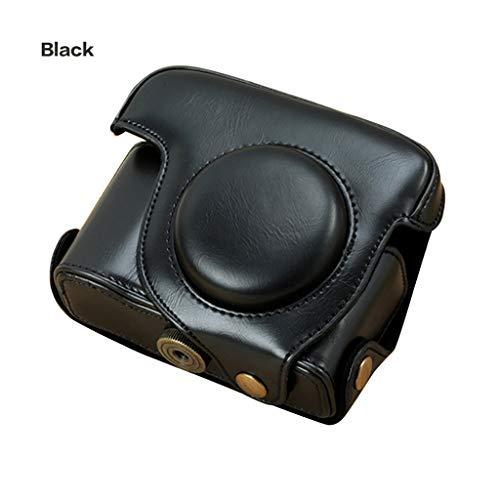 William-Lee Kameratasche aus PU-Leder für Canon Powershot G15 G16 Kamera-Zubehör, PU-Leder, Schwarz, 12x8x6cm/4.7x3.1x2.3in