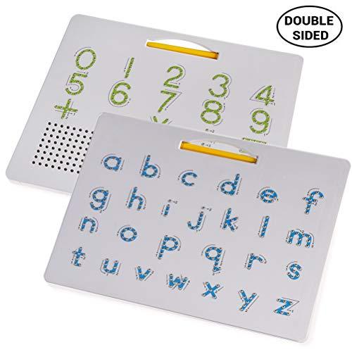 2 en 1 magnétique Planche à Dessin Alphabet Lettre Conseil de traçage des Lettres éducatives de Lecture d'apprentissage Alphabet Cadeau préscolaire