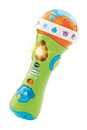 VTech Sing Along Microphone for Kids | Toddler Toy Microphone with Amplified Voice Effect and Animal Sounds | Educational Toys for Boys & Girls 1, 2, 3+ Year Olds