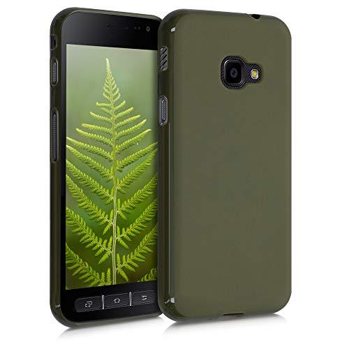 kwmobile Hülle kompatibel mit Samsung Galaxy Xcover 4 / 4S - Handyhülle - Handy Case in Dunkelolivgrün