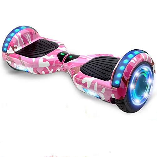 HST 6,5 Zoll Hoverboard Self Balance Board Elektro Skateboard Elektroroller, Smart Self- Balancing Scooter mit doppeltem 350W Motor, LED-Licht, Bluetooth, Fernbedienung und Tasche