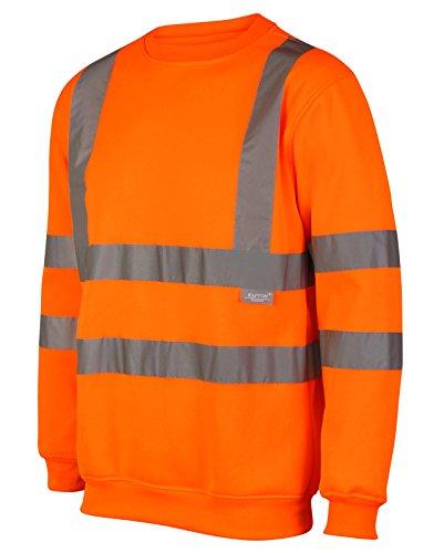 Kapton Hoge Zichtbaarheid Crew Neck Sweatshirt Maten S- 5XL Geel Oranje Zwart Hi Vis Viz Reflecterende Werkkleding Outdoor gezien Veiligheid Kleding Ronde hals Jumper