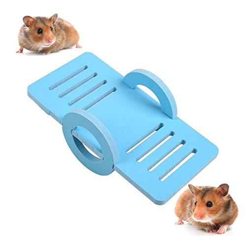Aolvo Hamster Seesaw, sirio/enano Hamster Toys, divertida plataforma de juegos de ejercicio, gran jaula nido hábitat accesorios para animales pequeños como rata, erizo, cobaya, chinchilla, ardilla, loro, rosa