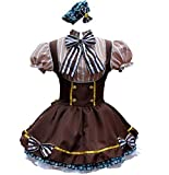 Nsoking Love Live Hanayo Koizumi Style Anime Party Dress Womens Lolita Maid Cosplay Costume (Chest: 32.5~34.5' (83~88 cm), Waist: 29' (74 cm), Coffee)