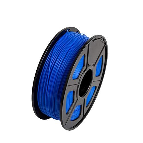 Filament PLA 3D-Drucker + / PLA 1.75mm 2.2 LBS 1KG Spool 3D-Druckmaterial for 3D-Drucker und 3D-Pens PLA Filament 3D Pen Filament Refills (Color : Blue)