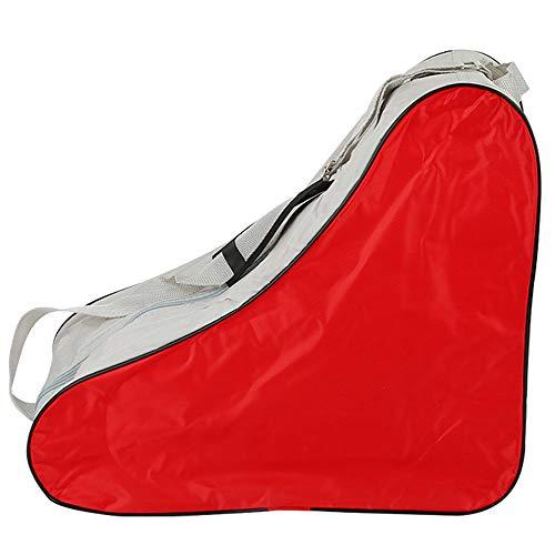 YOFASEN Borsa da Pattini Skate Bag - Durevole Borsa per Pattini da Ghiaccio e Pattini Roller per Adulto Taglia Unica, Rosso, 42 * 20 * 39cm