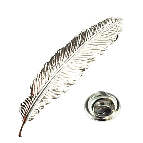 Quill Feather Lapel Pin Badge