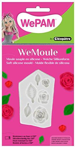 Cleopatre WeMoule – Moule de silicone pour moldar roses et fleurs en porcelaine froide