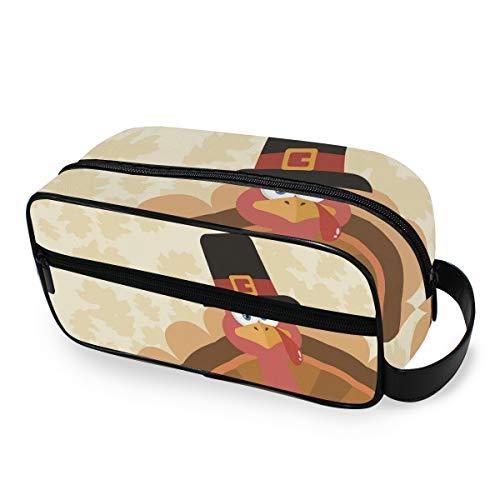 Trousse de toilette voyage sac de maquillage portable sac à main Vintage joyeux Thanksgiving Day automne Turquie outils cosmétique train étui de rangement