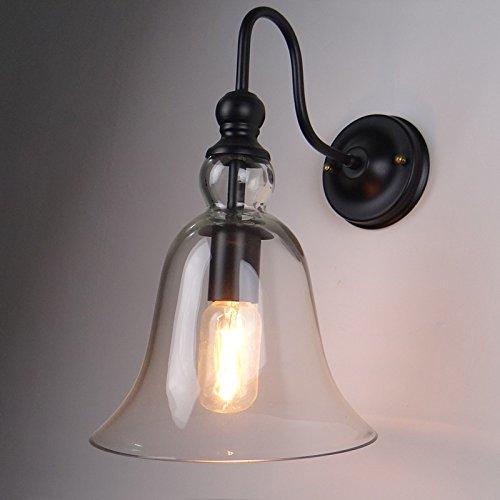 JJZHG wandlamp wandlamp waterdichte wandverlichting glazen klok wandlamp creatieve binnen nachtkastlamp schijnwerper wandlamp omvat: wandlamp, stoere wandlampen