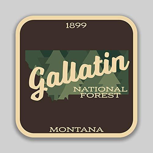 JMM Industries Gallatin National Forest Montana Vinyl-Aufkleber für Autofenster Stoßstange, 10,2 cm, Premium-Qualität, UV-Schutz, Laminat PDS1397