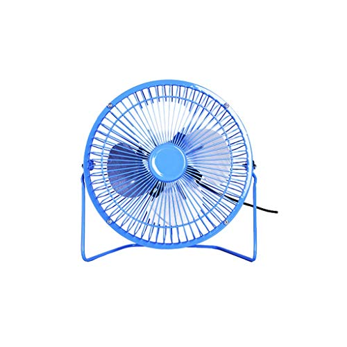 Ventilador USB pequeño ventilador eléctrico para el hogar, dormitorio, oficina, dormitorio, mesita de noche, ventilador de cama (negro, blanco, azul)