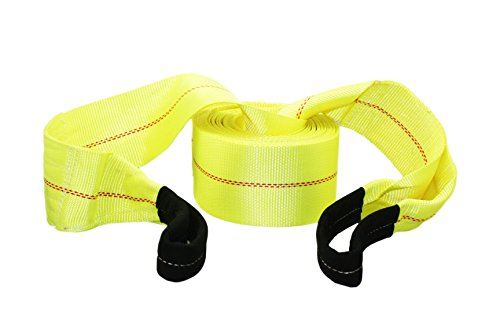 ABN Tow Winch Rope with Loops  Offroad Vehicle Recovery Strap  30 Feet x 4in  20,000 lbs Pound Towing Capacity
