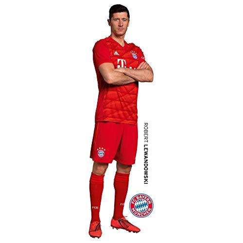 K&L Wall-Art - Wandsticker, Wandtattoo, Aufkleber, Poster selbstklebend - FC Bayern - Robert Lewandowski - 33x120 cm