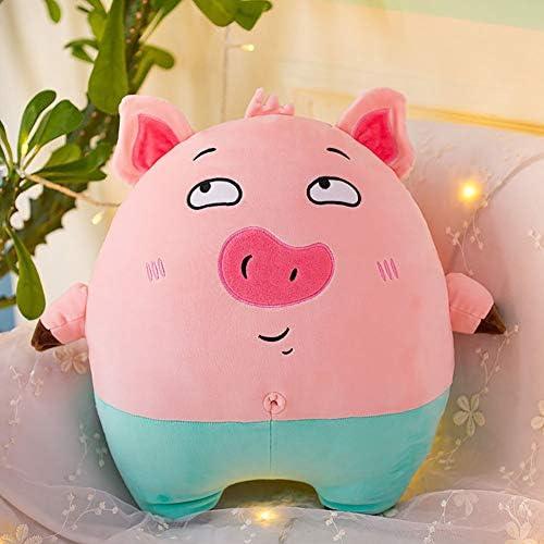 GJC Down Cotton Pig Hug Pillow Plush Toy Cartoon Cute schwarz Cat Doll Sleeping Pillow Gift,RosaB,85CM