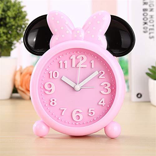Fangzhuo - Reloj despertador creativo de Mickey Minnie Mouse para niños y niñas estudiantes