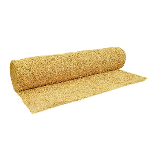 QuickGRASS PRO Erosion Control Blanket Roll with Biodegradable Staples 2-1/2'x50′ Natural