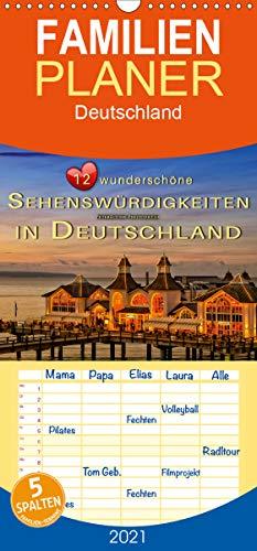 12 wunderschöne Sehenswürdigkeiten in Deutschland - Familienplaner hoch (Wandkalender 2021, 21 cm x 45 cm, hoch)