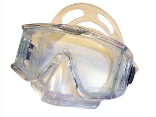 Typhoon Panoramic Mask with Purge Valve Great for Scuba Diving, Clear