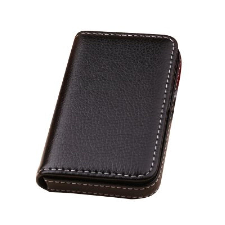 【ノーブランド品】名刺入れ カードケース PUレザー 大容量 ボックスタイプ