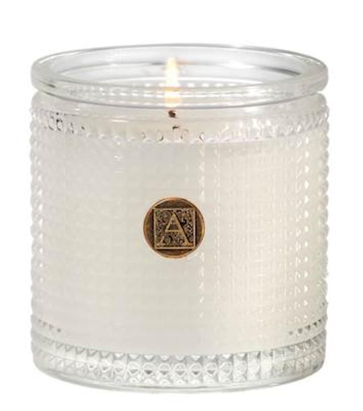 硬いつまらない計算するAromatique BourbonベルガモットTexturedガラス香りつきJar Candle