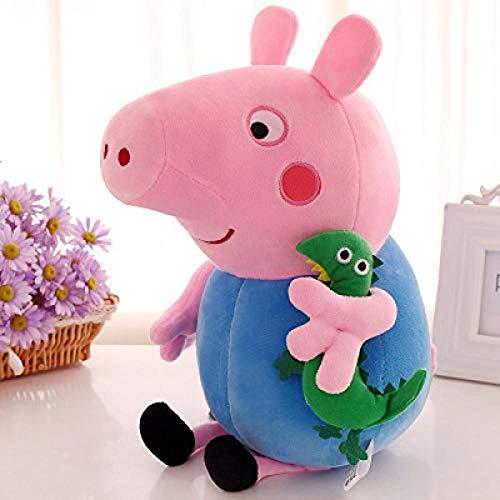 Vbtsqp Piggy George Peggy muñeco de Peluche de Dibujos Animados Linda Almohada de Cerdito Rosa Día de los niños Regalo de cumpleaños para niños Navidad Día de San Valentín