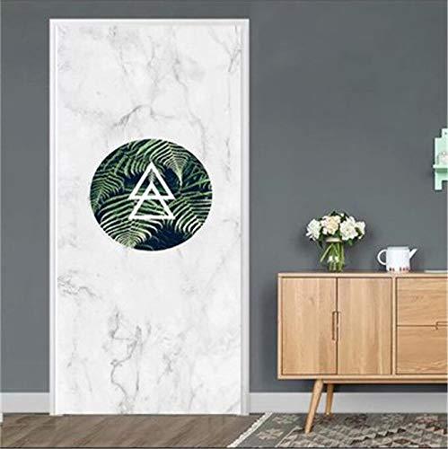 DFKJ Cartoon Türaufkleber wasserdichte 3D-Dekoration Abziehbilder Selbstklebende Tapete auf der Tür DIY Wandbild A23 77x200cm