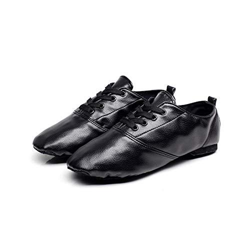 STMMXM PU Low-Cut Men's Jazz Dance Shoes Female Adult Soft-Soled Shoes Yoga Ballet Children Dance shoes-38