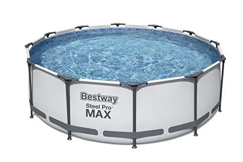 Bestway Steel PRO Max da 366x100 cm Piscina Fuori Terra Solo Struttura, Bianco