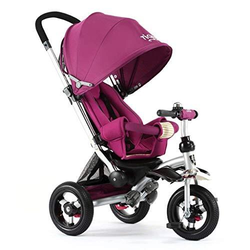 LJ Fahrräder, Kinder 'Fahrräder, Kinderfahrrad Kinder' S Dreirad Sitzen/Reiten Babywagen Justise Markise Nicht Aufblasbares Titan-Leerrad Fahrrad Für Neugeborene,1,1