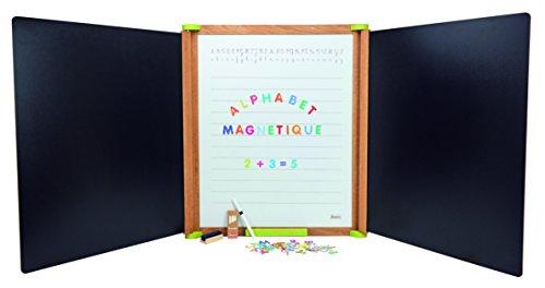 Jeujura JeujuraJ8799 - Tabla tríptica (tamaño grande, madera natural), multicolor