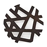 The Mammoth Design Asymmetric Modern Trivets for Hot Dishes, Perfect Gift, Decorative Wooden Trivet, Coaster, Hot Pot Holders Pads for Rustic Home Kitchen Counter or Dining Table