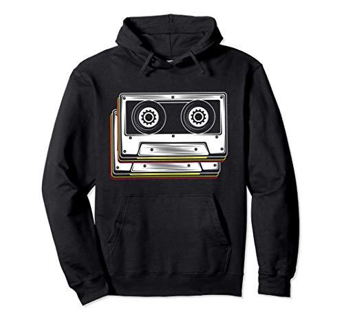 Disfraz de cinta de cassette 80s 90s Retro Sudadera con Capucha