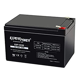 ExpertPower 12 Volt 12 Ah Rechargeable Battery with F2 Terminals || EXP12120